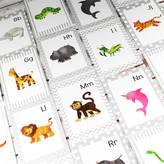 Betty Bramble Animal Alphabet Flash Cards