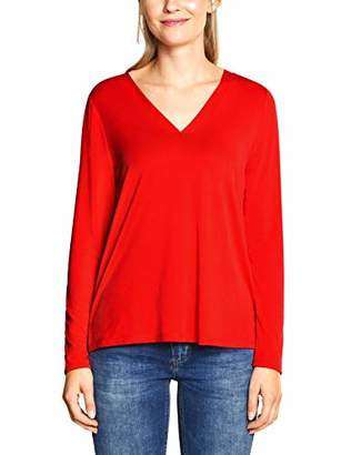 Street One Women's 3173 Long Sleeve Top, (Cobalt Blue 11784), 12 (Size: )