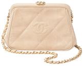 Chanel Beige Lizard Frame Bag