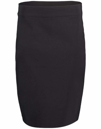 Avenue Montaigne Black Pull-on Pencil Skirt