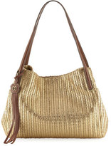 Eric Javits Aura Shoulder Bag w/Tassel, Gold