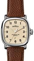 Shinola 41mm Guardian Men's Watch, Brown/Cream