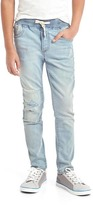 Gap High stretch rip & repair slim pull-on jeans