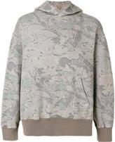 Yeezy printed hooded sweatshirt