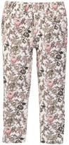 Joe Fresh Skinny Floral Corduroy Pant (Little Girls)