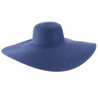 Lawliet Womens Church Kentucky Derby Hats Large Wide Brim Straw Summer UV Protection (Natural) One Size