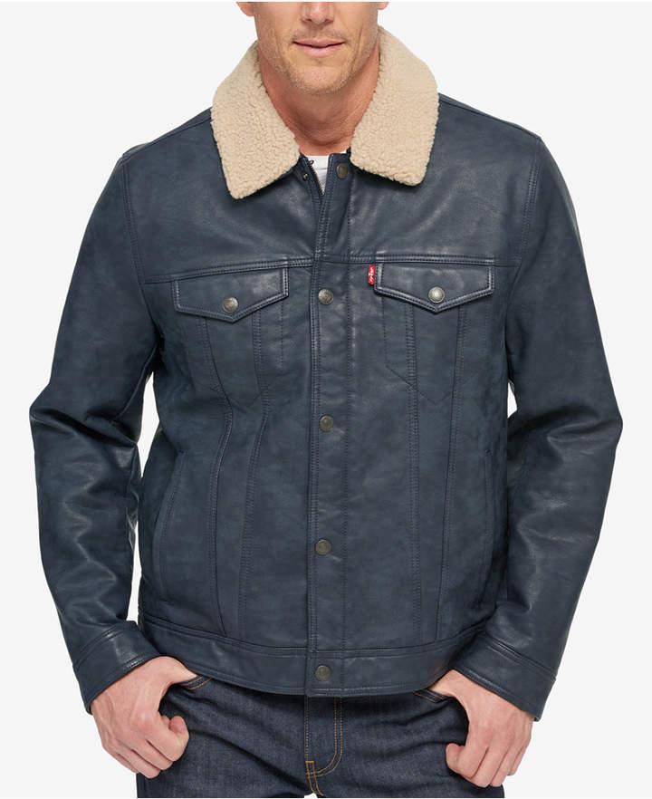 a89542a4f8d0 Mens Faux Leather Jacket Levi - ShopStyle