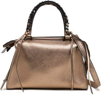 Elena Ghisellini Metallic Leather Shoulder Bag