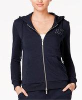 Armani Exchange Studded Logo Hoodie