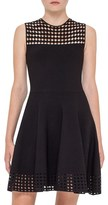 Akris Punto Women's Dot Mesh Inset Fit & Flare Dress