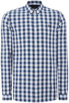 Fred Perry Men's Long sleeve marl large gingham shirt