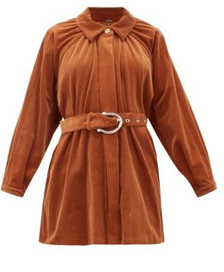 Dodo Bar Or Bella Belted Cotton-blend Corduroy Jacket - Brown