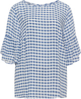 Mat Plus Size Gingham check top