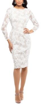 Xscape Evenings Lace Soutache Dress