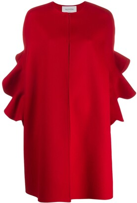 Valentino Ruffled Sleeve Cape