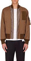 Maison Margiela Men's Layered Wool Bomber Jacket