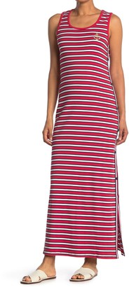 Tommy Hilfiger Anchor Stripe Side Snap Tank Maxi Dress
