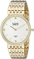 Burgi Women's BUR138YG Diamond & Crystal Accented Yellow Gold Bracelet Watch