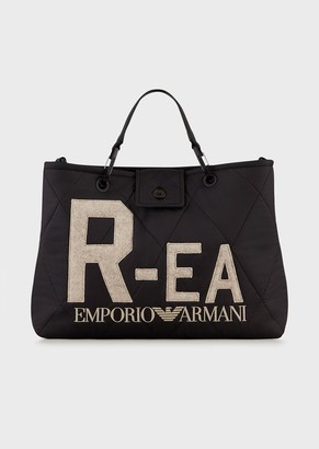 Emporio Armani Myea Bag Shopper Bag In R-Ea Quilted Nylon