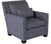 Massoud Furniture Wilson Club Chair, Indigo