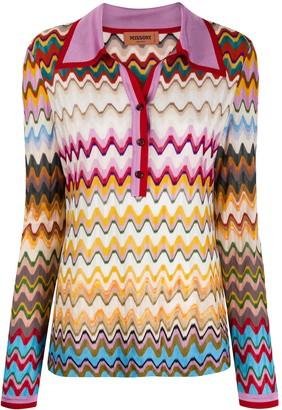 Missoni Woven Zigzig Polo Shirt