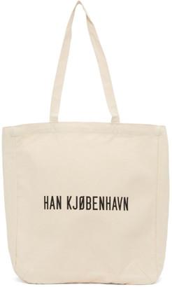 Han Kjobenhavn Beige Canvas Logo Tote