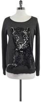 Joie Grey Tiger Print Wool Blend Sweater