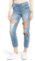 Good American Women's Good Cuts Raw Edge Boyfriend Jeans