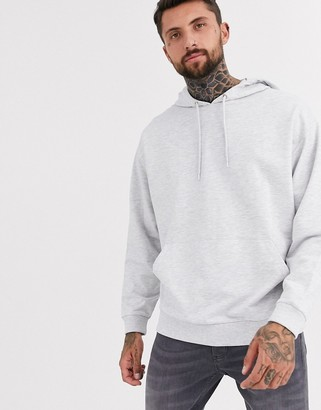 Asos Design DESIGN lightweight oversized hoodie in white marl