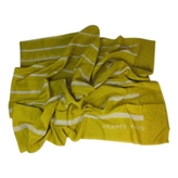 Hermes Yellow Cotton Scarf