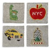 Gourmet Dining Sudha Pennathur Beaded New York City Coasters/Set of 4