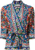 Mes Demoiselles patterned wrap blouse - women - Cotton/Viscose - 38