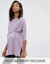 Asos LOUNGE Knitted Tunic with Drawstring
