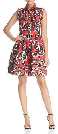 Kate Spade Poppy Field Ruffle Shirt Dress