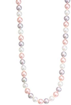 Majorica 8mm Tri-Tone Pearl Necklace