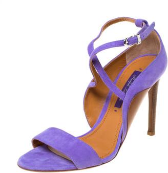 Ralph Lauren Lavender Suede Blana Ankle Strap Sandals Size 36