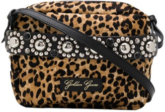 Golden Goose Snow Leopard Print Crossbody Bag