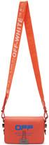 Off-White Off White Orange Wavy Logo Mini Flap Bag