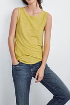Velvet Yellow Linen Tank