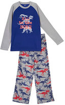 Petit Lem Holiday Two-Piece Printed Pajama Set