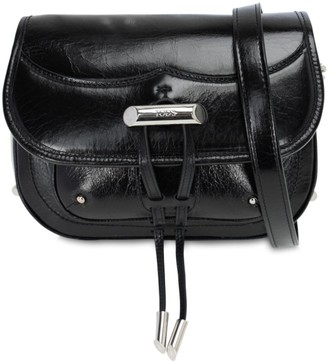 Tod's CRACLE LEATHER SHOULDER BAG