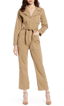 Good American Khaki Jumpsuit
