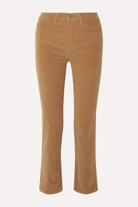 Frame Le High Cotton-blend Corduroy Straight-leg Pants - Camel