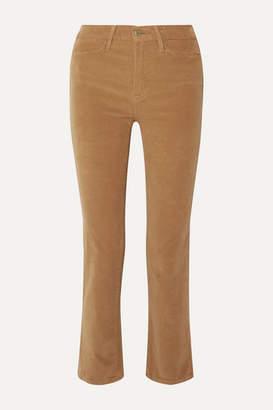 Frame Le High Cotton-blend Corduroy Straight-leg Pants - Camel