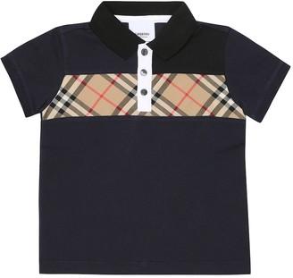 BURBERRY KIDS Cotton polo shirt