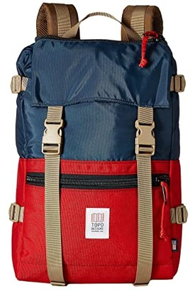 Topo Designs Rover Pack (Navy/Red) Backpack Bags
