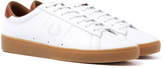 Fred Perry Spencer White Tumbled Leather Trainers