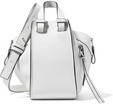 Loewe Hammock Small Textured-leather Shoulder Bag - White