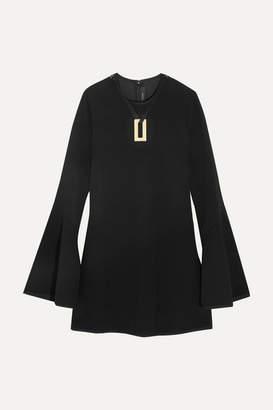 Ellery Preacher Embellished Crepe Mini Dress - Black