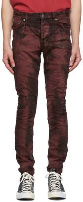 Ksubi Burgundy and Black Chitch Super Nature Jeans